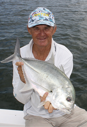 Giant trevally are one of the author's favourite Broadwater fish and great fun on light gear.