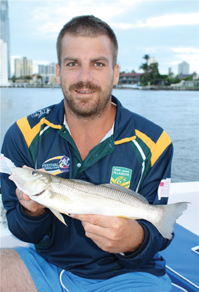 Ricky made the most of his Goldy holiday by catching good size whiting in the Nerang River.