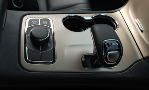 Smooth and functional surfaces make up the majority of the Jeep's interior.