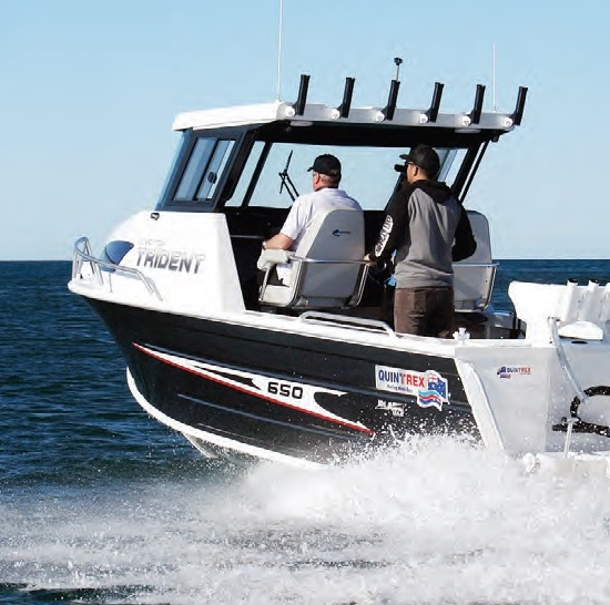 The 650 Trident HT is the most versatile of the three models tested.