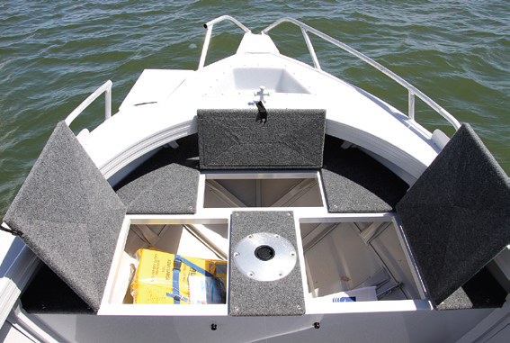 Hatches On Casting Deck Provide Storage Solutions.