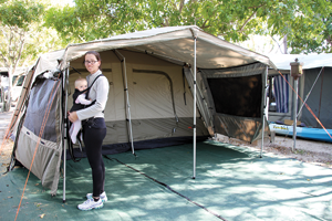 Set-up was a breeze even with bub in tow. & BlackWolf Turbo Lite 450 Tent Review