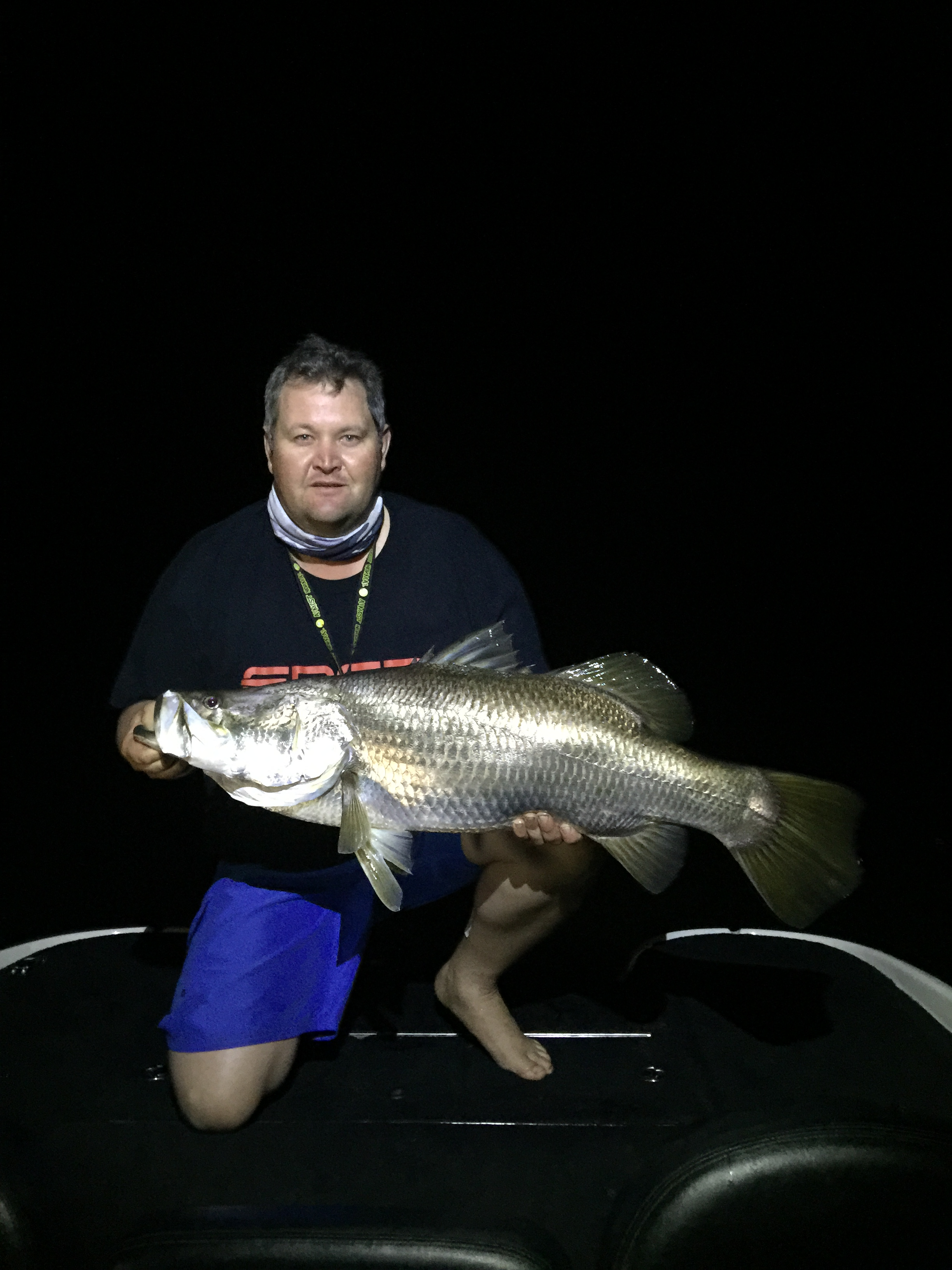 Ben Durkin nailed a metre-plus barra.
