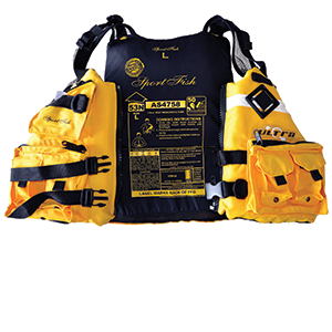 An AS4758-approved PFD with donning instructions is highly recommended to ensure you comply with regulations.