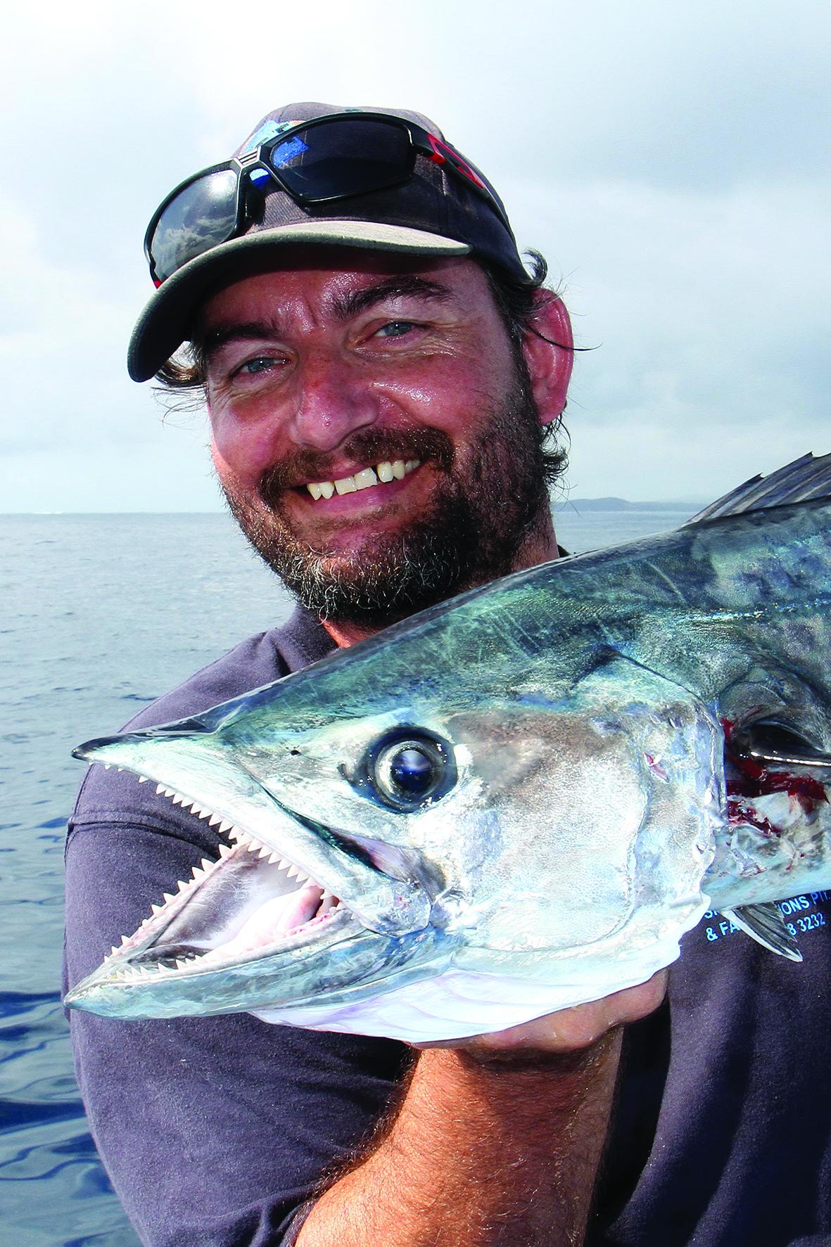 A very happy Kip Cavka with a spanish mackerel.