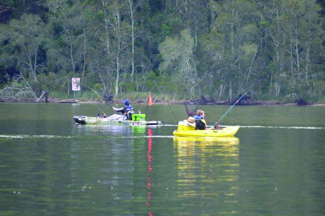 Kayak Fishing at Lake Conjola