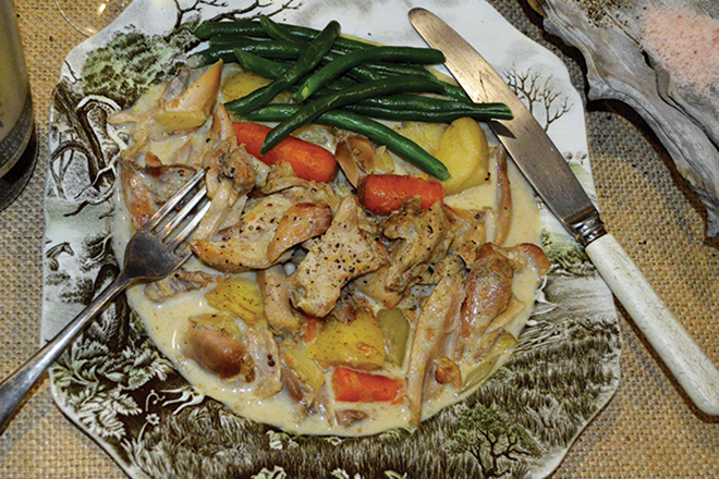 Creamy Honey Mustard Rabbit Casserole