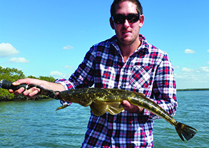 Fleur's son landed a 72cm flathead on a Zerek Fish Trap and 6lb line.