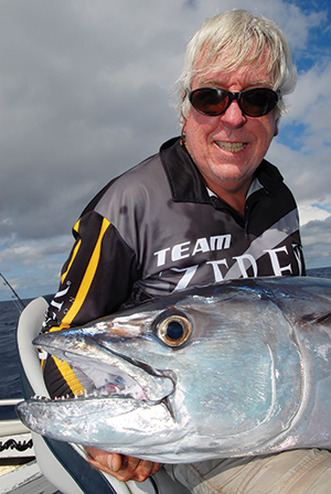 Everything was either big or very toothy at the Wreck Reefs. David Green with a decent doggie.