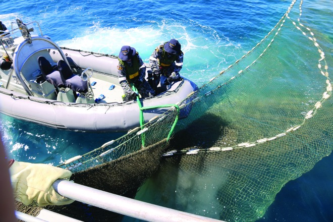 Ghost net retrieved from northern Australian waters