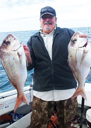Rob Schomberg lifted two snapper captured in awesome conditions.