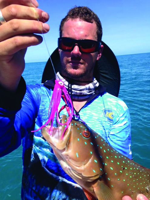A coral trout taken on a homemade jig.