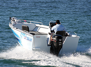 The Adrenalin Hull ensured a smooth and dry ride.