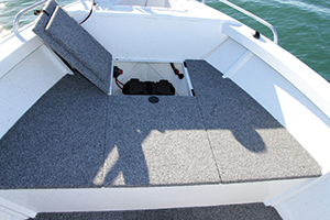 By having a slightly raised casting platform you get a good vantage point for fishing and plenty of storage.