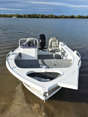 A 2.12m beam affords bucket loads of deck space and the raised casting deck is perfect for fishing those mangrove-riddled estuaries the Fisherman is made for.