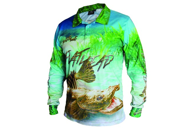 Switchbait flathead fishing shirt