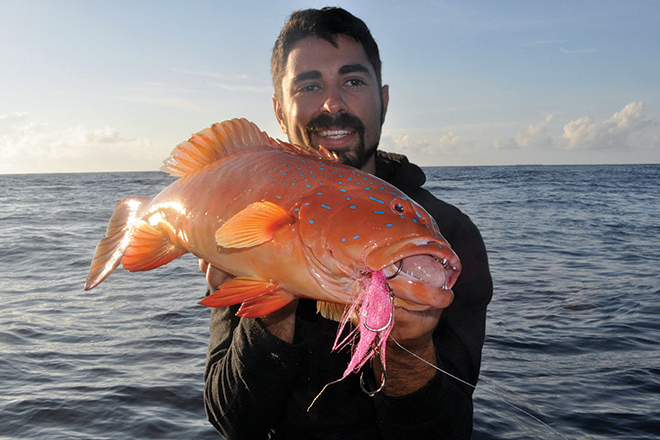 Targeting coral trout in Queensland