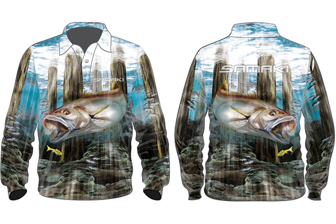 samaki mighty mulloway fishing shirt