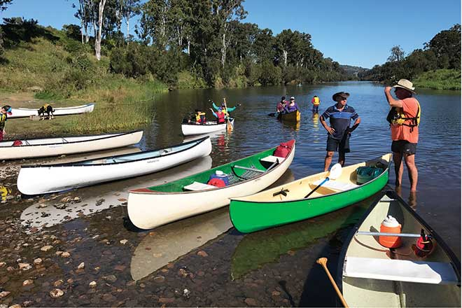 Paddling the upper Brisbane River