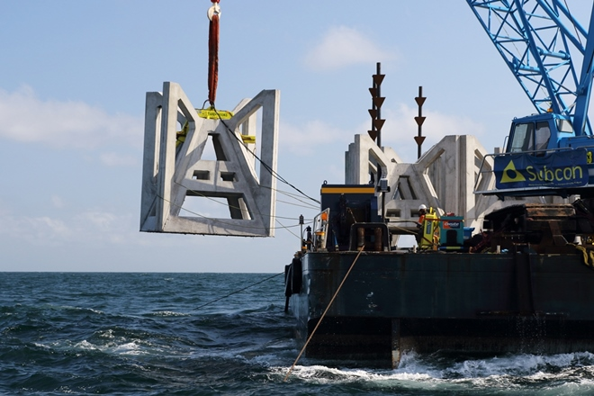 Southern Sydney 'John Dunphy' offshore artificial reef deployed
