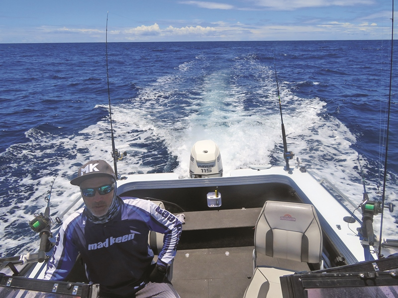 catching black marlin gold coast