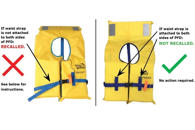 Product recalls for ineffective lifejackets