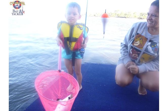 having fun catching fish houseboats