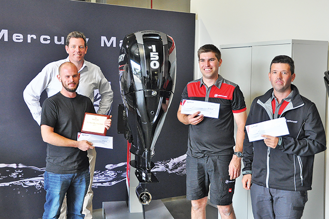 Lieuwe Mellae wins 150hp outboard as Mercury Technician of the Year