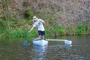 fishing from canoes