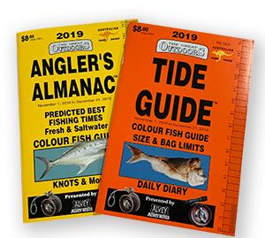 angler's almanac tide guide moon fishing