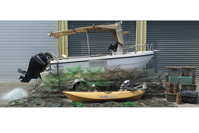 seized black marketer boat red claw