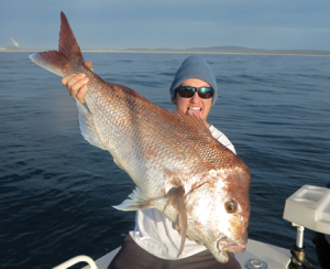 Brodie Quaas landed this awesome snapper while jigging off Evans Head.