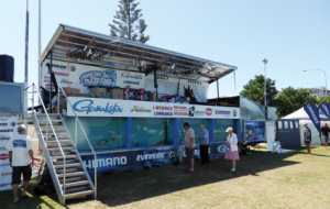 Some of the North Coast Fishing Bonanza setup. Dave Moss's Reef Science tank was brilliant.