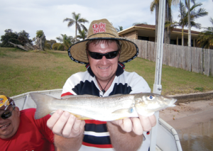 Drifting parallel to the bank with a blade resulted in the capture of this whiting.