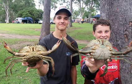 Ryan and Mitch showed off two of their muddies. Females are legal in NSW.