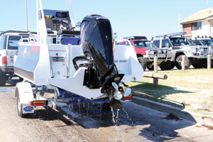The 23-degree deadrise runs the whole length of the hull, giving you a smooth ride in a variety of conditions.