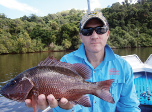 Though small, this jack absolutely hammered a Damiki Vault blade fished deep around a rock bar.
