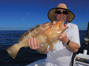 Mark landed the only cod on the author's expedition offshore from Fraser Island.