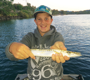 Mitch had a great afternoon in the creek, with this pike making perfect snapper bait.