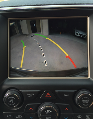 The reversing camera is super easy to use and provides guidelines to help in tight spaces.