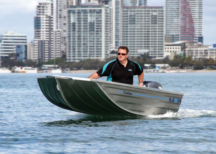 The Trekker planed easily with its flat hull.