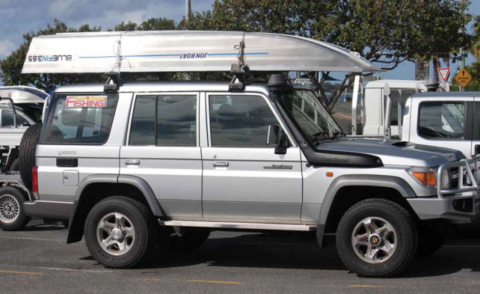 The Jon Boat will easily fit on your roof.