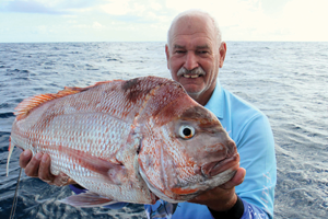 A 10kg snapper was the third fish caught by the author on the trip.