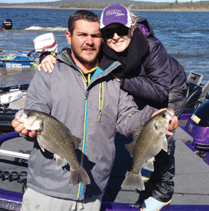 Josh and Brittany Evans were happy to come second in the prize section of the tournament.