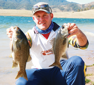 Matthew Langford with his Co-Angler division winning bag.