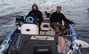 Team Lowrance comprised Dean Silvester, the number-one bass angler in Australia, and Mark Reiwbott.