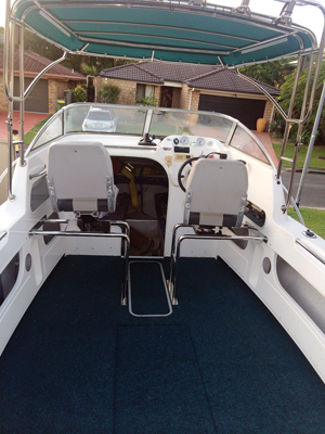 Aquaholic's new seat configuration really opens the deck up with more space.