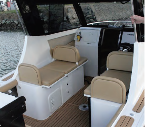 The interior is luxurious and spacious.