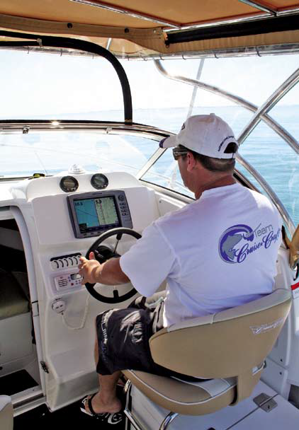 New seats make the helm very comfortable.