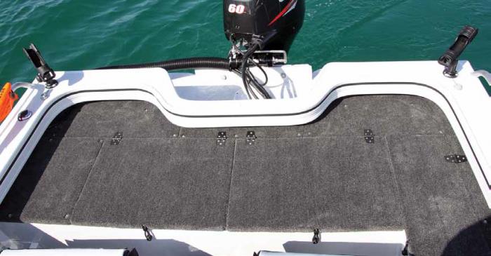 Rear casting deck.